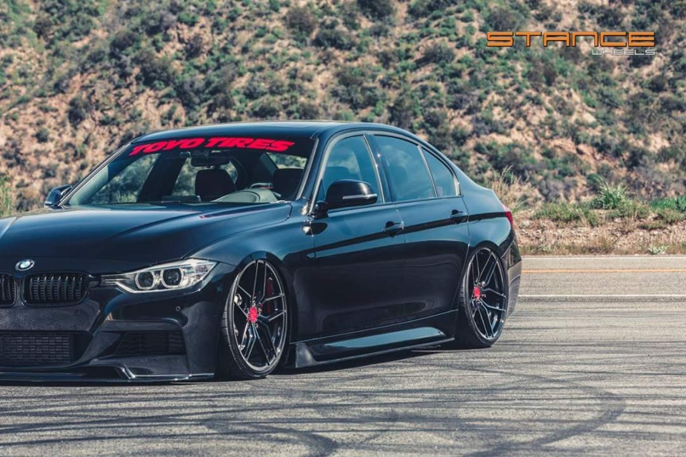 BMW 335i F30 gets a new look with the rotary flow forged ...