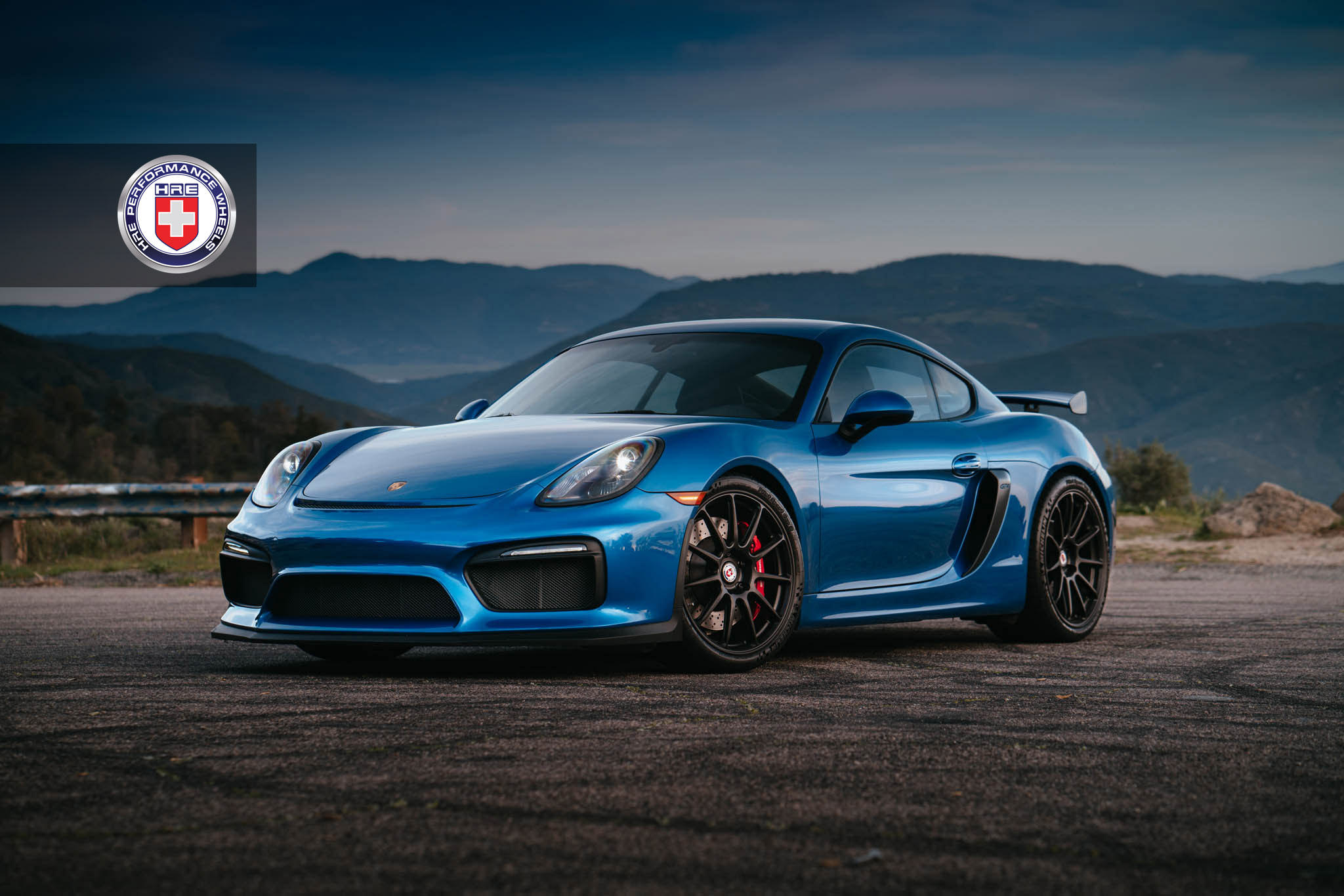Porsche Cayman Gt4 Gets Stylish With The Satin Black Hre