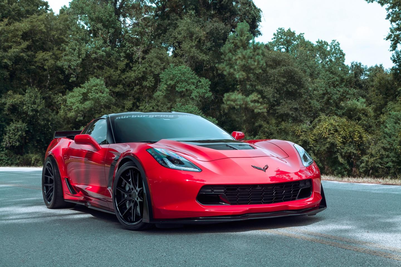 red corvette z06 wallpaper