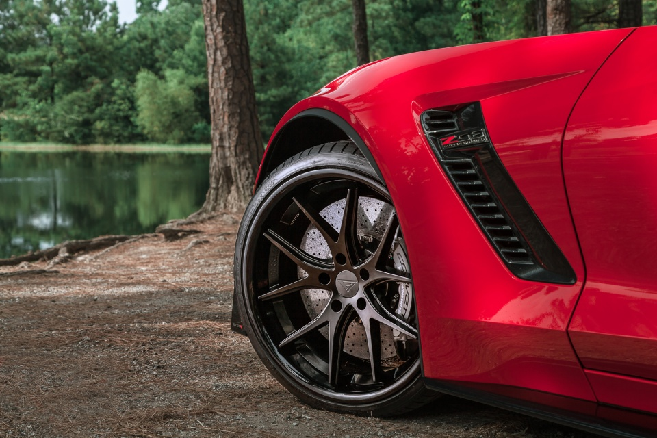 Matte Black BMW >> Chevrolet Corvette C7 Z06 gets connected with the matte black Ferrada FR2 wheels – Need 4 Speed ...