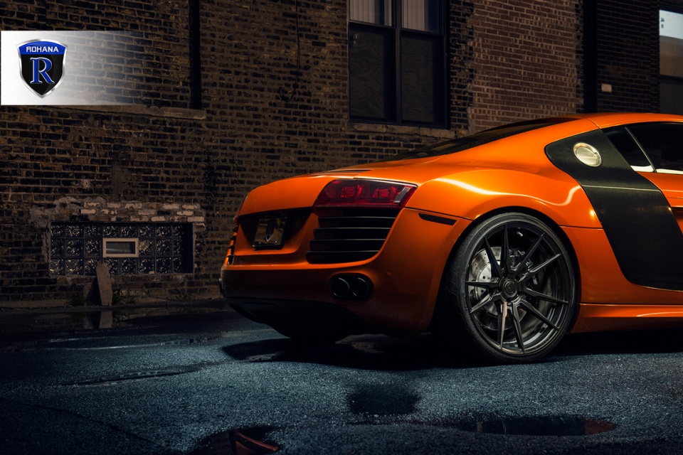 Audi R8 gets the rotary formed matte black Rohana RF2 ...