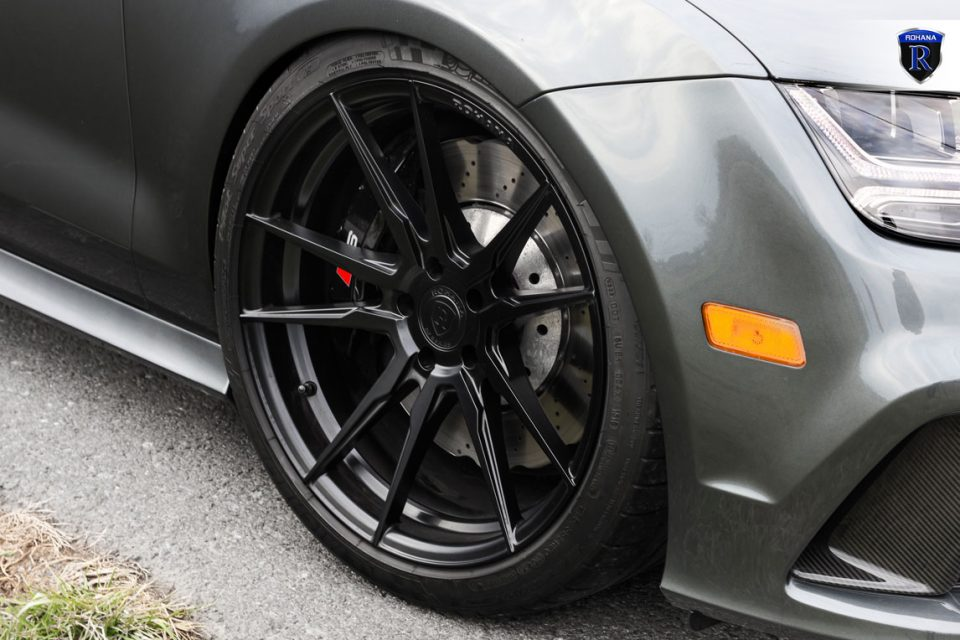 Matte Black BMW >> 2016 Audi RS7 gets some nice Rohana RF2 Wheels – Need 4 Speed Motorsports