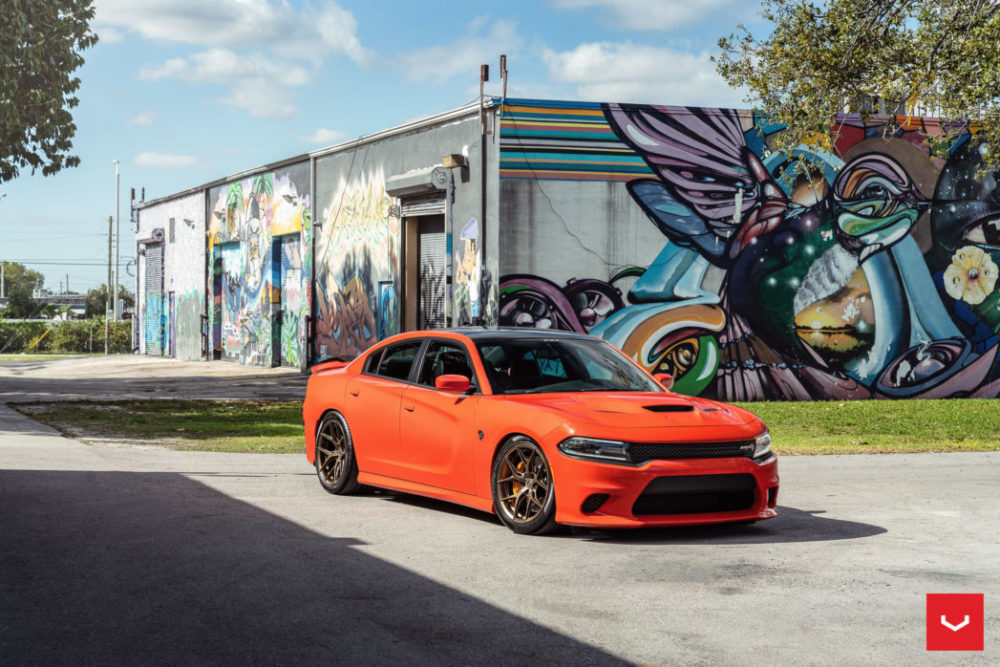 dodge charger hellcat hybrid forged series hf vossen wheels