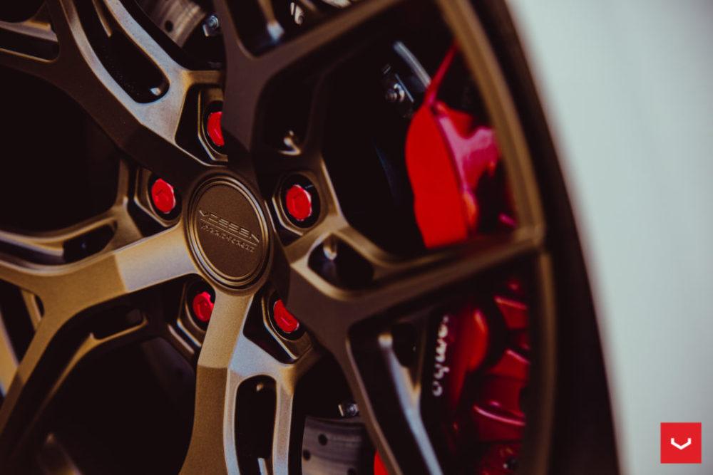 GTR Nissan hybrid forged vossen hf5 wheels hybrid forged matte bronze