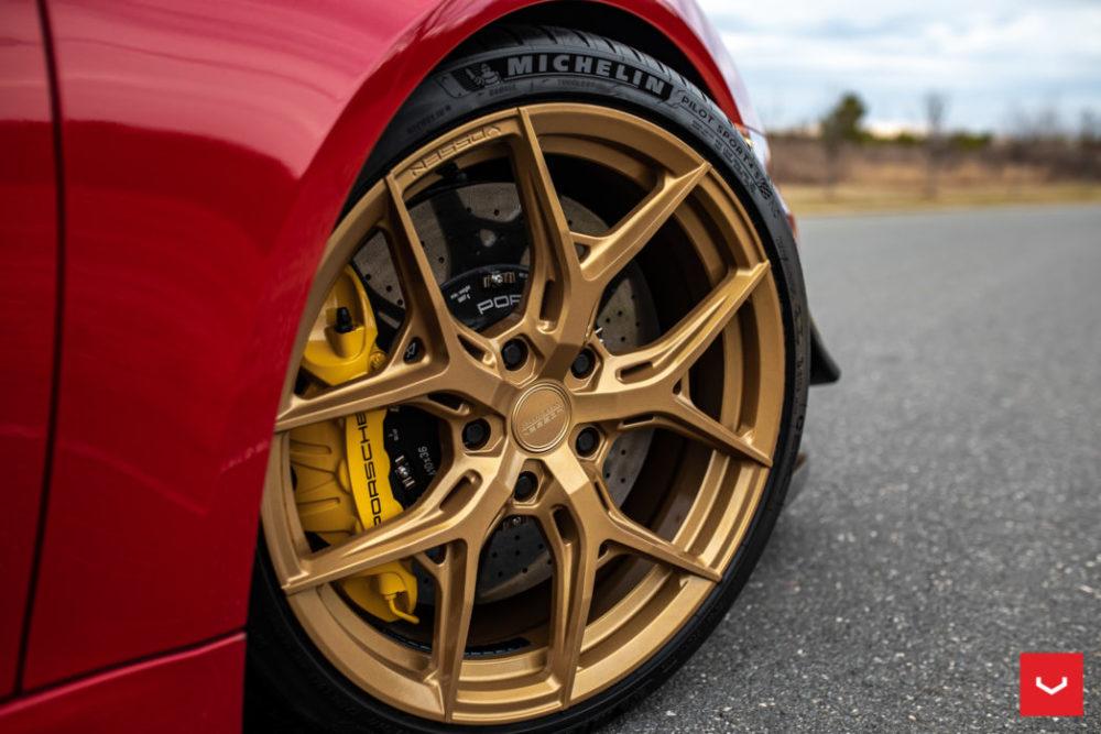 porsche cayman gt hybrid forged series hf5 vossen wheels