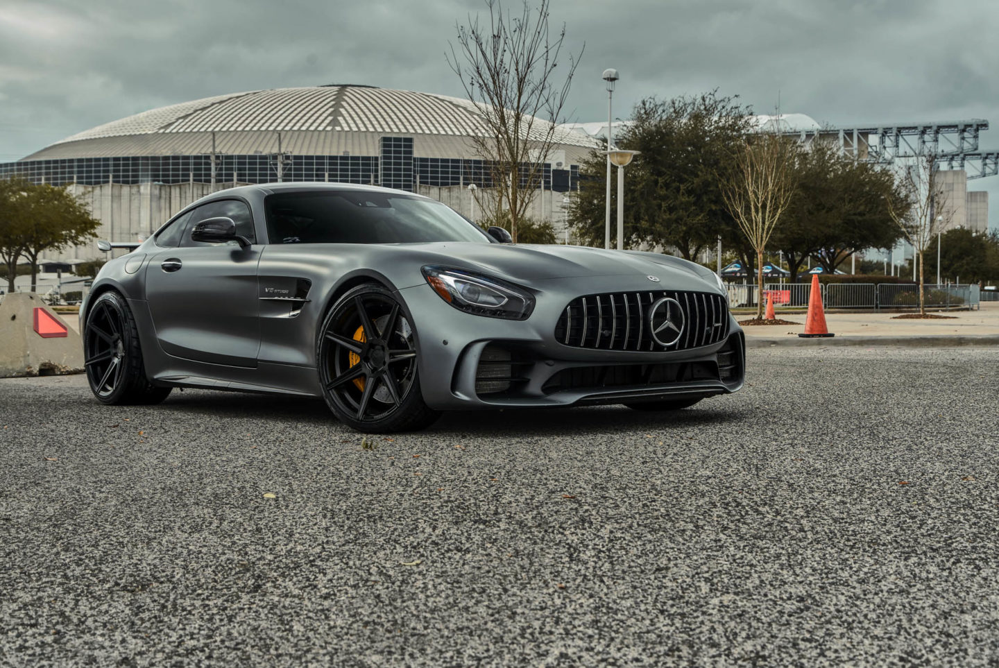 n4sm ferrada fr matte black on mercedes amg gtr