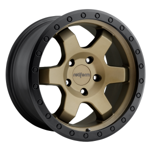 Rotiform Wheels R150 SIX-OR Matte Bronze Black Bead Ring