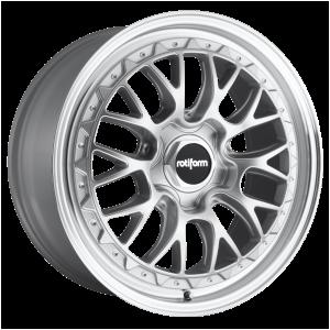 Rotiform Wheels R155 LSR Gloss Silver Machined
