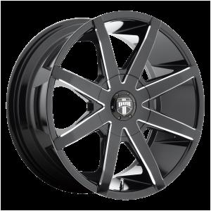 DUB Wheels S109 Push Gloss Black Milled