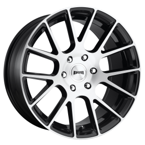 DUB Wheels S206 Luxe Gloss Black Brushed Face
