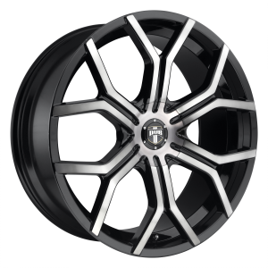DUB Wheels S209 Royalty Gloss Black Machined DDT