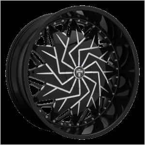 DUB Wheels S231 Dazr Gloss Black Milled