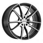 18x8 Petrol P0A GLOSS BLACK W/ MACHINE CUT FACE