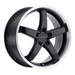 18x8 Petrol P1B GLOSS BLACK W/MACHINE CUT LIP