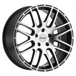 17x7.5 Petrol P6A GLOSS BLACK W/ MACHINE CUT FACE