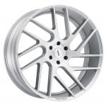 22x9.5 Status Juggernaut SILVER W/BRUSHED MACHINE FACE