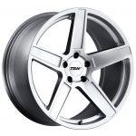 - Staggered full Set -(2) 18x8.5 TSW Ascent Matte Titanium Silver(2) 18x9.5 TSW Ascent Matte Titanium Silver