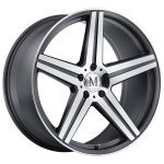 17x8 Mandrus Estrella Gunmetal w/ Mirror Cut Face and Lip