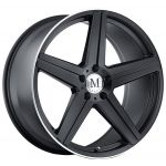17x8 Mandrus Estrella Matte Black w/ Machine Lip Edge
