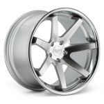 22x10.5 Ferrada FR1 Machine Silver w/ Chrome Lip