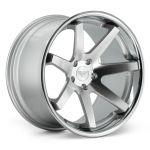 22x11 Ferrada FR1 Machine Silver w/ Chrome Lip