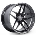 Staggered full Set - 20x9 Ferrada Forge-8 FR5 Matte Black (Rotary Forged) 20x10 Ferrada Forge-8 FR5 Matte Black (Rotary Forged)
