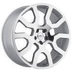 20x9.5 Redbourne Hercules Silver w/ Mirror Cut Face
