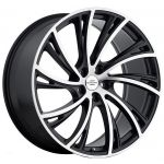 20x9.5 Redbourne Noble Matte Black w/ Machined Face (True Directional)