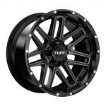 24x11 Tuff T17 MATTE BLACK W/ TINTED MACHINED FACE