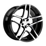 20x10 Ruff R954 GLOSS BLACK W/ MACHINED FACE