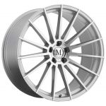 - Staggered full Set -(2) 19x8.5 Mandrus Stirling Silver w/ Mirror Cut Face (Rotary Forged)(2) 19x9.5 Mandrus Stirling Silver w/ Mirror Cut Face (Rotary Forged)