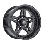 17x9 Level 8 Strike 5 MATTE BLACK W/MACHINED CUT LIP