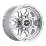 16x8.5 Level 8 Strike 8 MATTE SILVER W/MACHINED CUT LIP