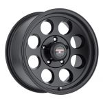 17x8.5 Level 8 Tracker MATTE BLACK