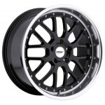 17x8 TSW Valencia Gloss Black w/ Mirror Lip