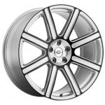 20x9.5 Redbourne Wilks Gloss Silver w/ Black Face