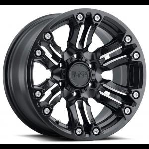 20x9.5 Black Rhino Asagai Matte Black w/ Machined Spoke & Stainless Bolts