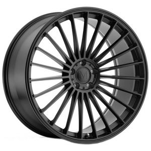- Staggered full Set -(2) 22x9 Mandrus 23 Matte Black(2) 22x10.5 Mandrus 23 Matte Black
