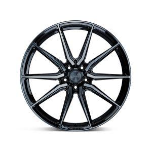 Staggered full Set - (2) 22x10.5 Vossen HF-3 Gloss Black (Hybrid Forged) (2) 22x12 Vossen HF-3 Gloss Black (Hybrid Forged)