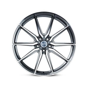 19x9.5 Vossen HF-3 Gloss Graphite Polished (Hybrid Forged)