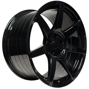 - Staggered full Set -(2) 19x10 Project 6GR 7-SEVEN Gloss Black (Spun Forged) (2) 19x11 Project 6GR 7-SEVEN Gloss Black (SpunForged)