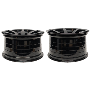 - Staggered full Set -(2) 19x10 Project 6GR 7-SEVEN Gloss Black (Spun Forged) (True Directional)(2) 19x11 Project 6GR 7-SEVEN Gloss Black (SpunForged) (True Directional)