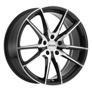 19x8 Petrol P0A GLOSS BLACK W/ MACHINE CUT FACE