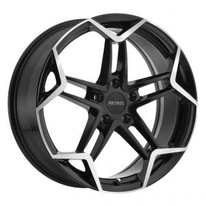 19x8 Petrol P1A GLOSS BLACK W/ MACHINE CUT FACE
