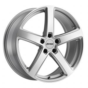 17x8 Petrol P2A SILVER W/ MACHINE CUT FACE