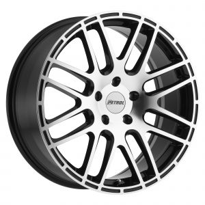 19x8 Petrol P6A GLOSS BLACK W/ MACHINE CUT FACE