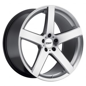 17x8 TSW Rivage GLOSS BLACK W/MILLED SPOKE