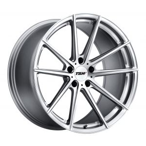 20x10 TSW Bathurst SILVER W/MIRROR CUT FACE