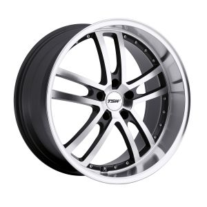 20x10 TSW Cadwell GUNMETAL MIRROR CUT FACE/LIP