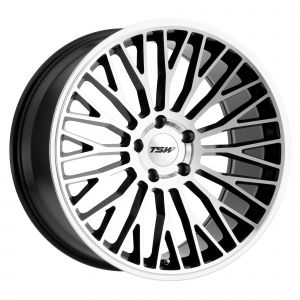 17x8 TSW Casino GLOSS BLACK W/MIRROR CUT FACE